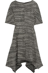 Stella Mccartney Ayana Asymmetric Wool Blend Tweed Mini Dress