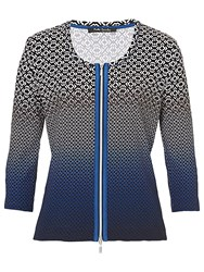 Betty Barclay Abstract Cardigan Black Blue