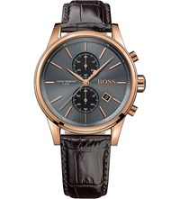 Hugo Boss 1513281 Jet Stainless Steel And Leather Watch