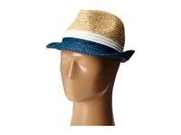 Bcbgmaxazria Stitched Color Black Floppy Shadow Blue Traditional Hats