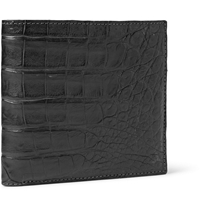 Santiago Gonzalez Crocodile Billfold Wallet Gray