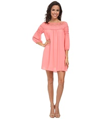 Gabriella Rocha Delmon Shift Dress Salmon Rose Women's Dress Pink