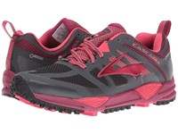 Brooks Cascadia 11 Gtx Anthracite Teaberry Raspberry Radiance Women's Running Shoes Gray