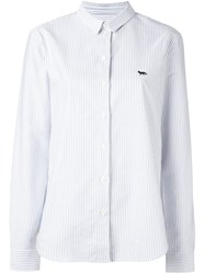 Maison Kitsune Striped Shirt White