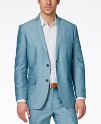 Inc International Concepts Neal Linen Slim Fit Blazer Only At Macy's Teal