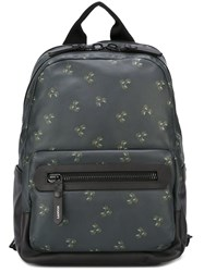 Lanvin Plant Print Backpack Green