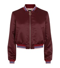 Pinko Faina Bomber Jacket Female Burgundy
