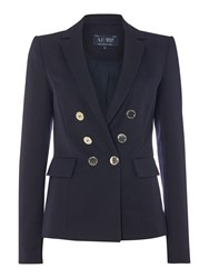Armani Jeans Double Breasted Blazer Navy