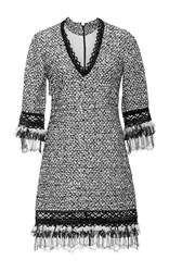 Jonathan Simkhai Tweed Shift Dress Light Grey