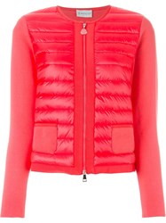 Moncler Padded Front Jacket Red