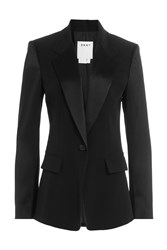 Dkny Tailored Blazer With Satin Black