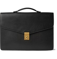 Bridle Leather Attache Case Black