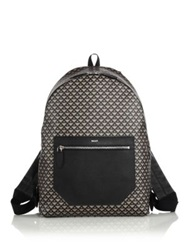 Bally Crescent Toile Coated Canvas And Leather Backpack Light Fawn