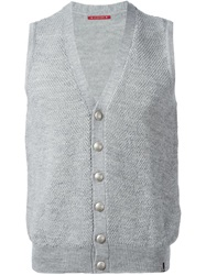Jacob Cohen Sleeveless Cardigan Grey