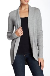 Abound Long Sleeve Shawl Cardigan Gray