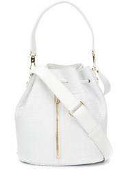 Elizabeth And James Drawstring Bucket Bag White