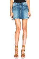 Frame Denim Le High Mini Skirt In Blue