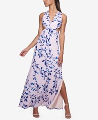 Fame And Partners Georgette Maxi Dress Pastel Garden