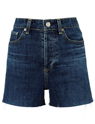 Alexa Chung For Ag Dare Denim The Fifi Shorts Blue