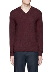 Theory Donners V' Cashmere V Neck Sweater Red