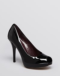 Stuart Weitzman Peep Toe Platform Pumps Baton High Heel Black