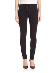Rag And Bone High Rise Lace Up Skinny Jeans Coal