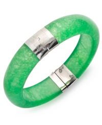 Macy's Sterling Silver Bracelet Jade Bangle