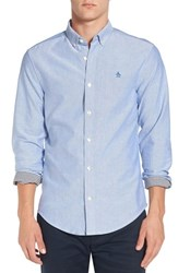 Original Penguin Men's 'Core' Trim Fit Oxford Shirt Classic Blue