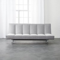 Cb2 Flex Microgrid Grey Sleeper Sofa