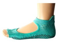 Toesox Bellarina Half Toe W Grip Fishnet Lagoon Women's No Show Socks Shoes Green