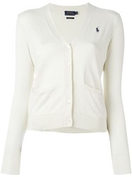 Polo Ralph Lauren V Neck Cardigan White