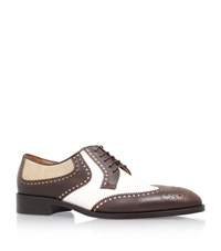 Etro Gents Suit Oxford Shoe Male Chocolate