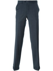 Brioni Plaid Tailored Trousers Blue