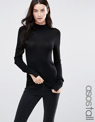 Asos Tall Jumper With Turtle Neck Black