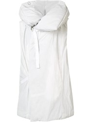 Nil0s Oversized Hooded Gilet White