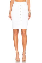 Blank Nyc Button Front Pencil Skirt White