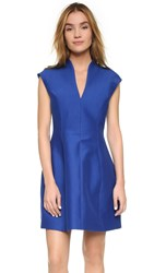 Halston Cap Sleeve Structured Dress Indigo