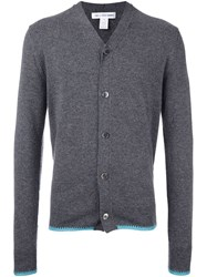 Comme Des Garcons Shirt Hem Detail V Neck Cardigan Grey