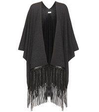 Vince Embellished Wool And Cashmere Cape Grey