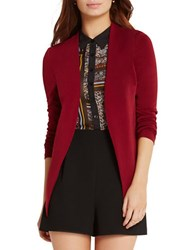 Bcbgeneration Welt Pocket Crepe Tuxedo Blazer Red