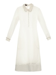 Rochas Polka Dot Ruffle Collar Dress