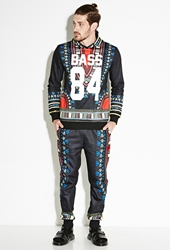 Forever 21 Bass Tribal Print Hoodie