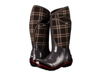 Bogs Plimsoll Plaid Tall Dark Gray Women's Cold Weather Boots