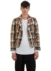 Aganovich Multicolour Tweed Blazer Jacket Black