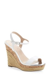 Women's Charles By Charles David 'Arizona' Espadrille Wedge White Leather