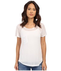 Culture Phit Benadette Short Sleeve Top With Pocket White Women's Clothing