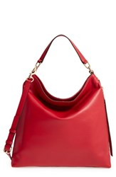 Rebecca Minkoff Rochelle Hobo Red Deep Red Light Gold Hrdwr