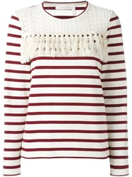 See By Chloe Striped Blouse Nude Neutrals