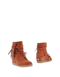High Ankle Boots Beige