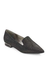 Adrianna Papell Taylor Point Toe Smoking Flats Black